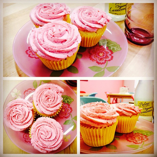 Lemon & Raspberry Cupcakes