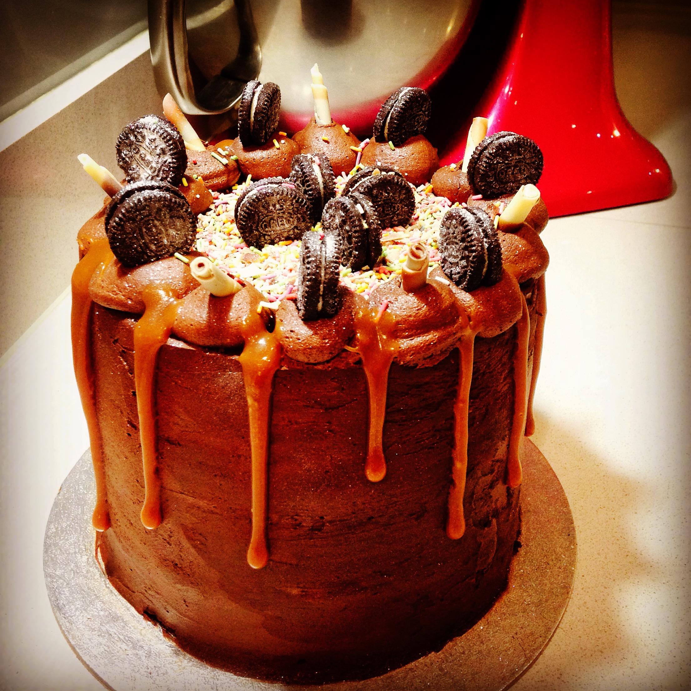 Chocolate, Salted Caramel, Oreo Cake