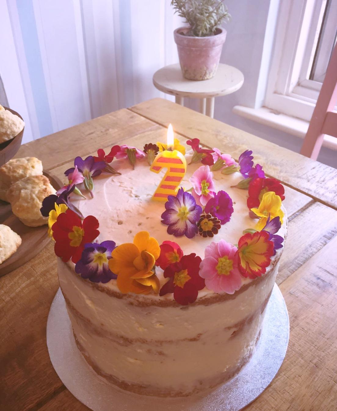 Fresh Flower Semi-Naked Cake