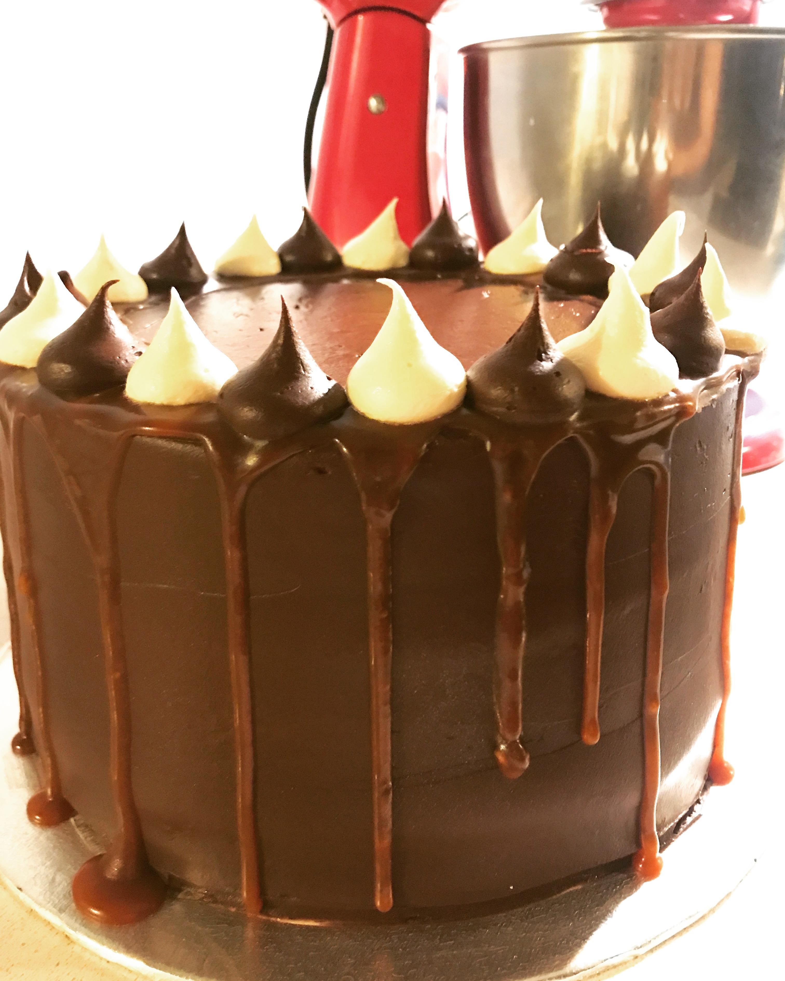 Chocolate Caramel Drip Cake