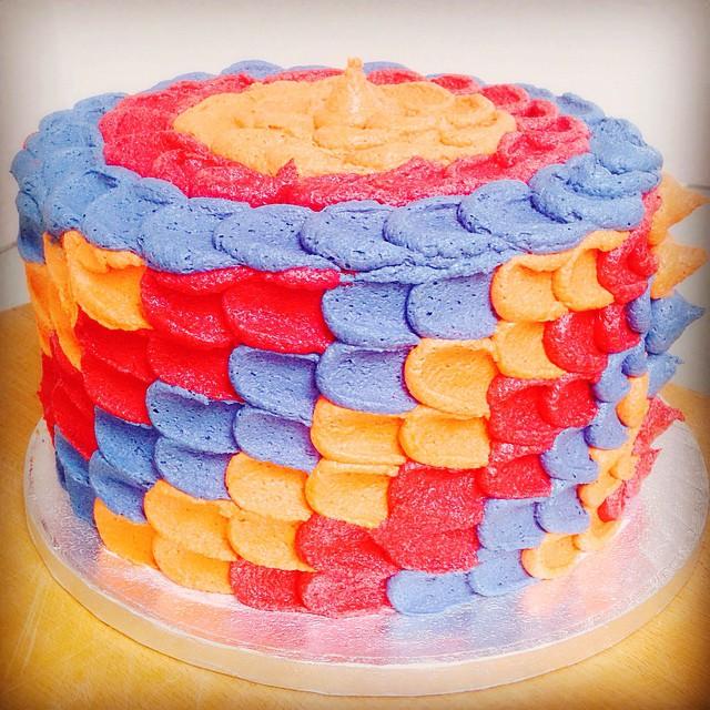A special 1st Birthday Cake went out today!! #ombrecake #birthdaycake #chocolatecake #mascarponebutt