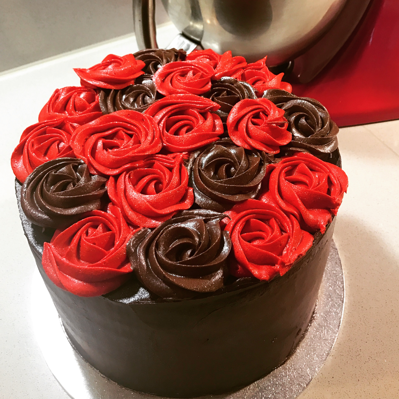 40th Wedding Anniversary Roses Cake