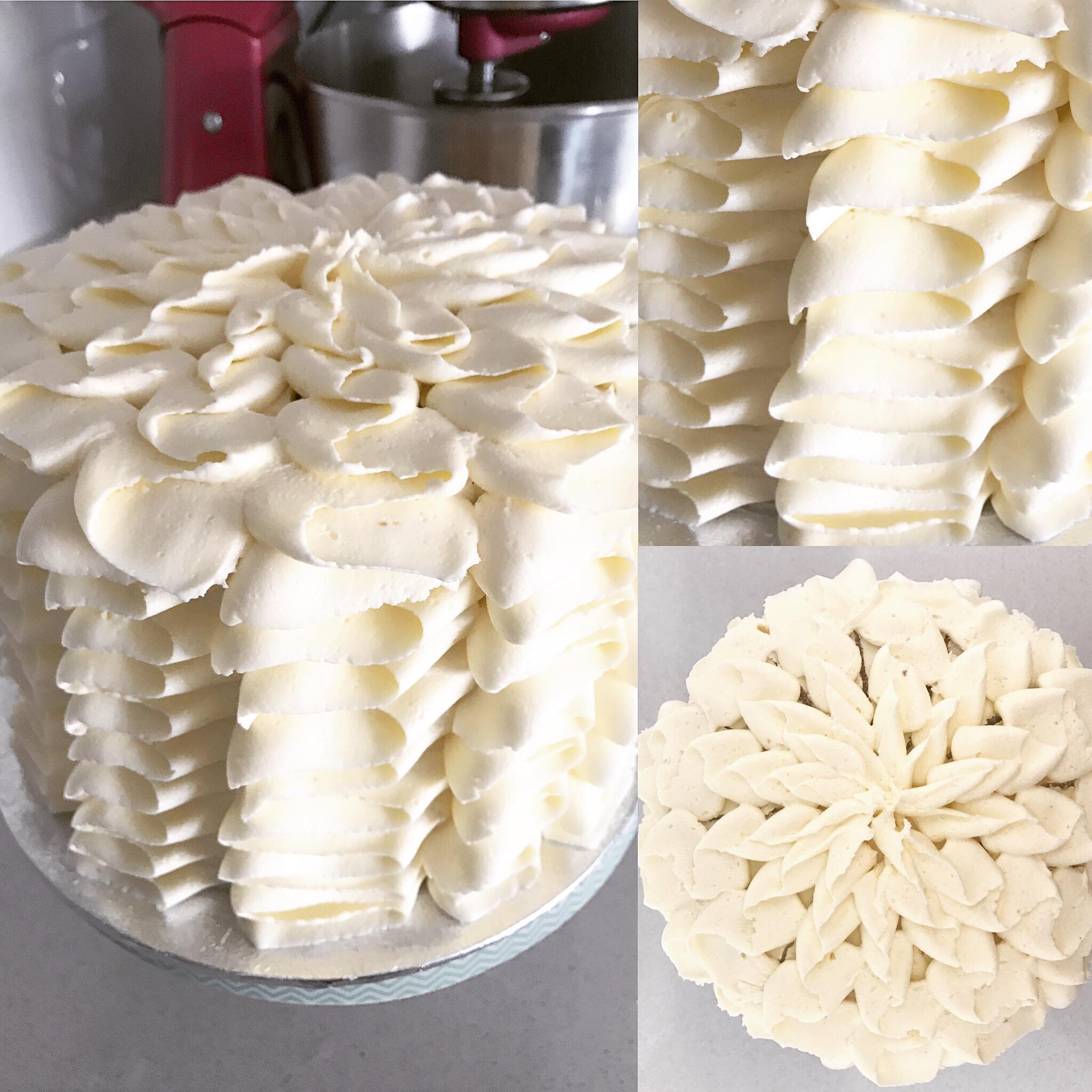 Vanilla Ruffle Cake