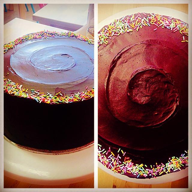 Chocolate Swirl Sprinkles Cake