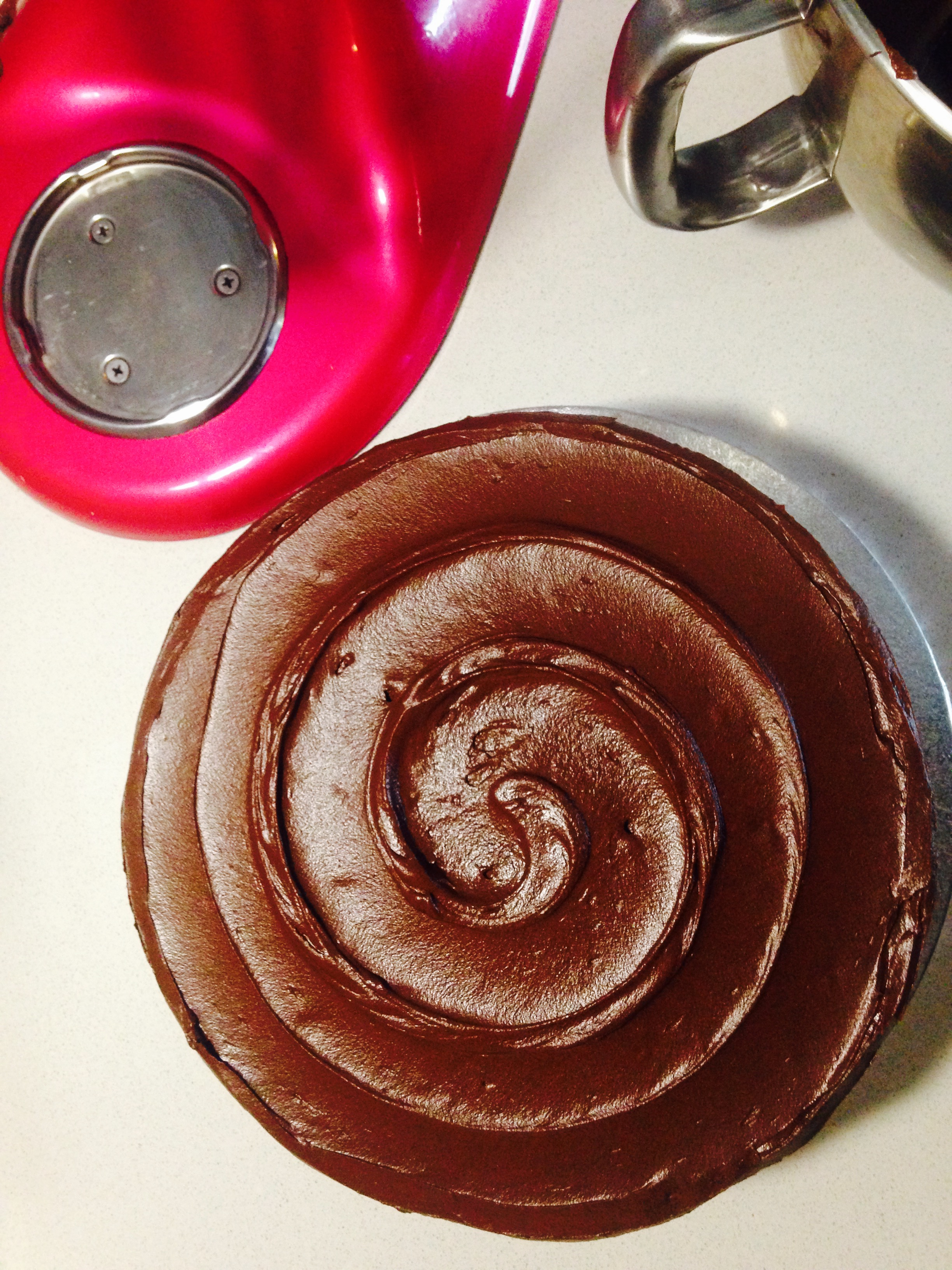Chocolate Swirl Topped Cake