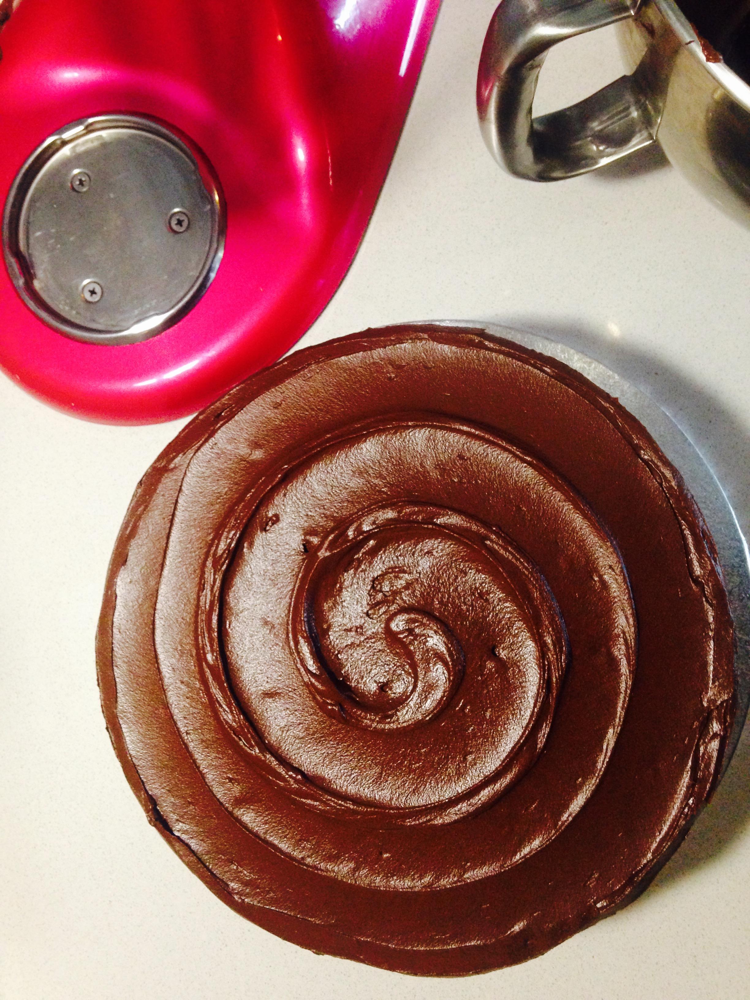 Chocolate Swirl Topped Cake