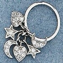 DKR5948 Charm Ring made in .925 Sterling Silver