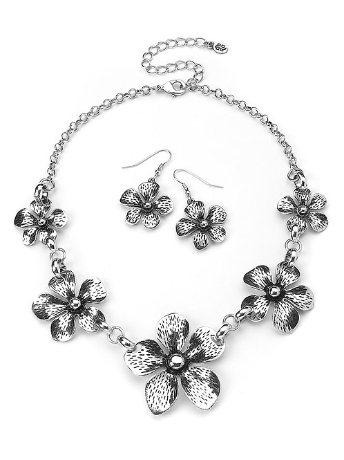 H01N- Hawaiian Necklace and Earring Set
