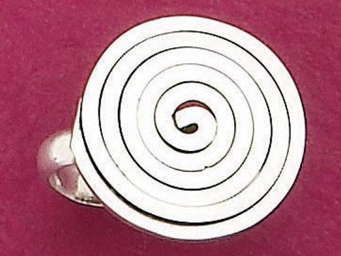 JR09 .925 STerling Silver Swirl Ring