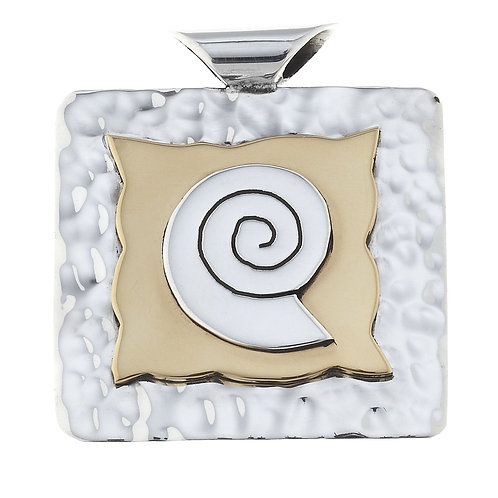 .925 Sterling Silver and Brass Pendant PP5588
