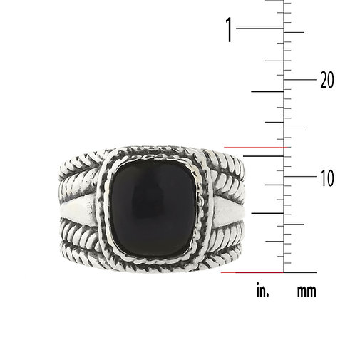 Black Onyx and .925 Sterling Silver Ring Noah 13
