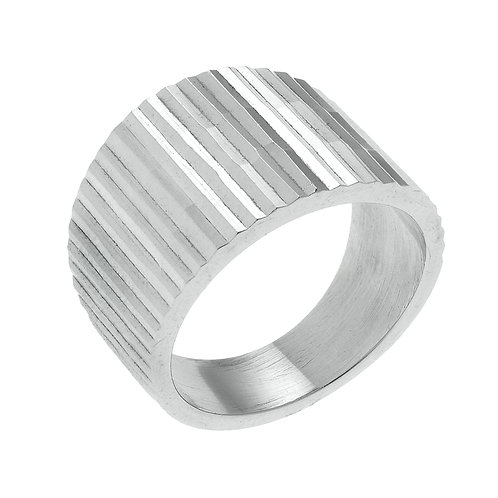 Diamond Cut Band in Sterling SIlver Noah 18