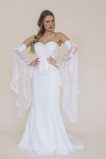 corset Gypsy et jupe Diane avec manches elfiques détachables -fairy trees-kryzalidea couture