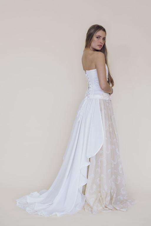 Corset Arduina sur jupe Caelia avec Traine détachable -Fairy trees-Kryzalidea couture
