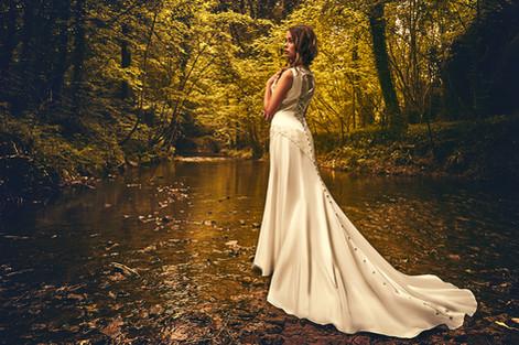 "Kryzalidea couture. Robe ""cascade"""