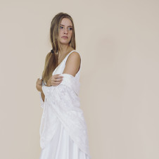 Robe Avalon et étole Chataigne- Fairy trees- Kryzalidea couture