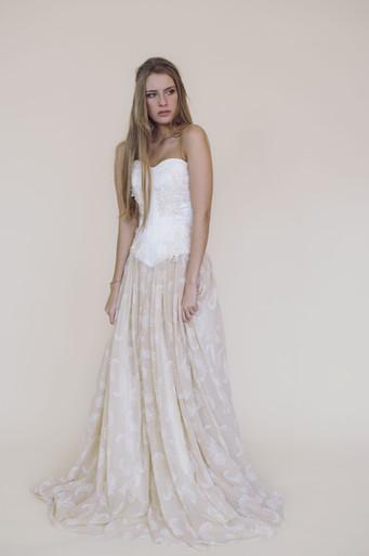 Corset Arduina sur jupe Caelia -Fairy trees-Kryzalidea couture
