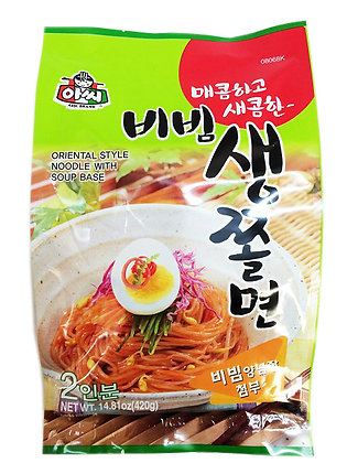Assi Hot & Spicy Cold Chewy Noodle 420g