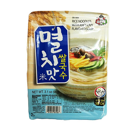 Assi Rice Noodle with Anchovy Flavored Soup 90g