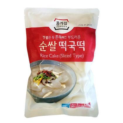 Jongga Rice Cake Sliced Type 500g