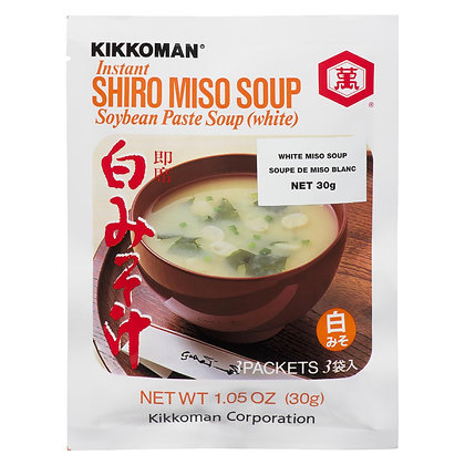 Kikkoman Instant Shiro Miso Soybean White Paste Soup 30g