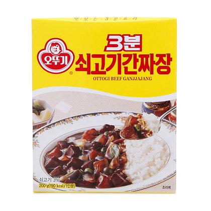 Ottogi 3 Minute Beef Ganjjajang Black Bean Sauce 200g
