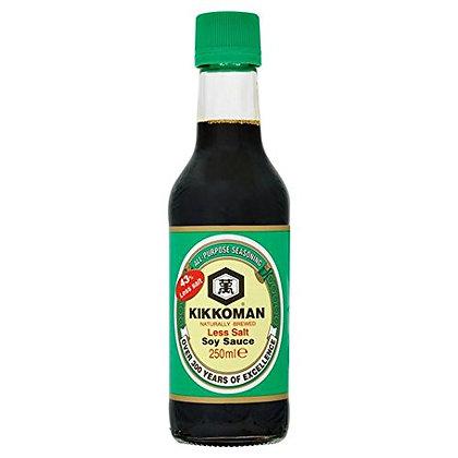 Kikkoman Less Salt Soy Sauce 250ml