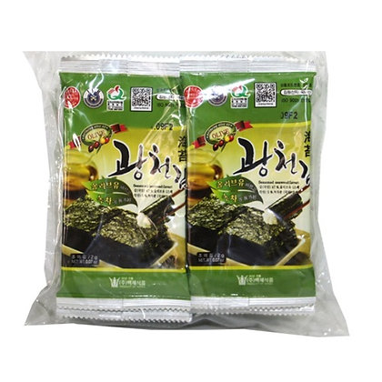 Kwangchun Seasoned Laver olive oil with green tea 20g