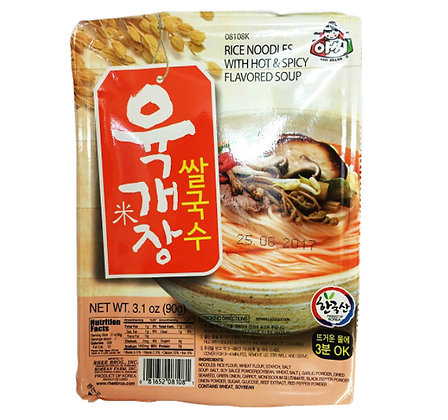 Assi Rice Noodle with Hot & Spicy Beef Flavored Soup 90g