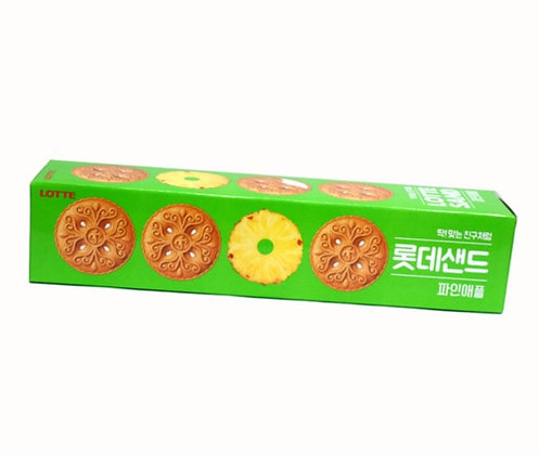Lotte Sand Pineapple Biscuit 105g