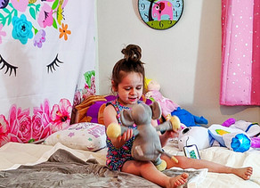 🐘 Zelah loves this super soft and cuddly elephant and blanket set.
