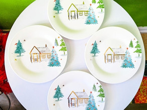🎄 I found this beautiful Balsam Lane tidbit christmas plate set at lenox.com