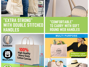 🛒  I found these homely connect reusable organic canvas grocery bags at walmart.
