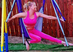 🧘‍♀️ Have you tried using an Aerial Yoga Swing yet?