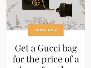 Here's your chance to Win a Gucci Mini Bag by simply purchasing digital download entries!