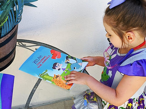 📚🖍️ Zelah loves her personalized Coloring the Animals coloring book gifted from playstories!