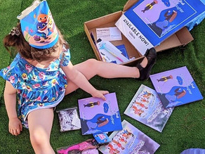One of Zelah's favorite gifts was her bundle of newly released books