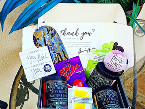 🎁 So many fabulous smelling natural #organic bath and beauty products in this box!