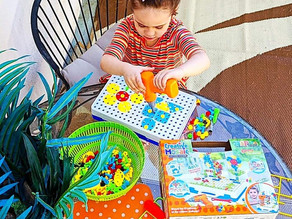 👩🔧 This HAPTIME store amazon kids electric diy drill set is so fun!