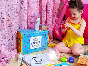 So many fun and interactive sensory toys in this Konnect Kraze box!