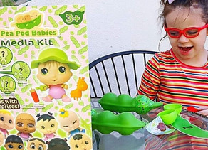 🍃 Zelah had a blast today unboxing this amazing Pea Pod Babies bundle!
