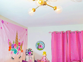 I found this beautiful ceiling light for Zelah's room at lnchome.com