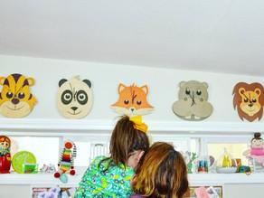 Cardboard Safari Animal Clocks