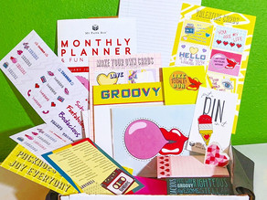 💋📼🌈💗 I love the groovy theme of personalized goodies in February's mypaperbox!!