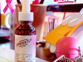 In honor of #BreastCancerAwarenessMonth, Sprightly CBD is giving away a bottle of their 600 MG CBD