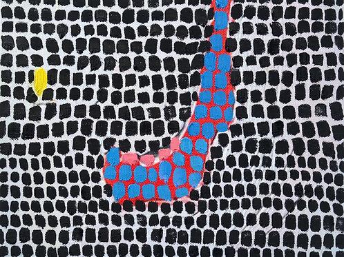 "Gaman Maman 25  10x8""  oil on canvas"