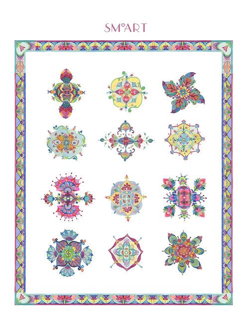SM*ART Mandalas Tea Towel