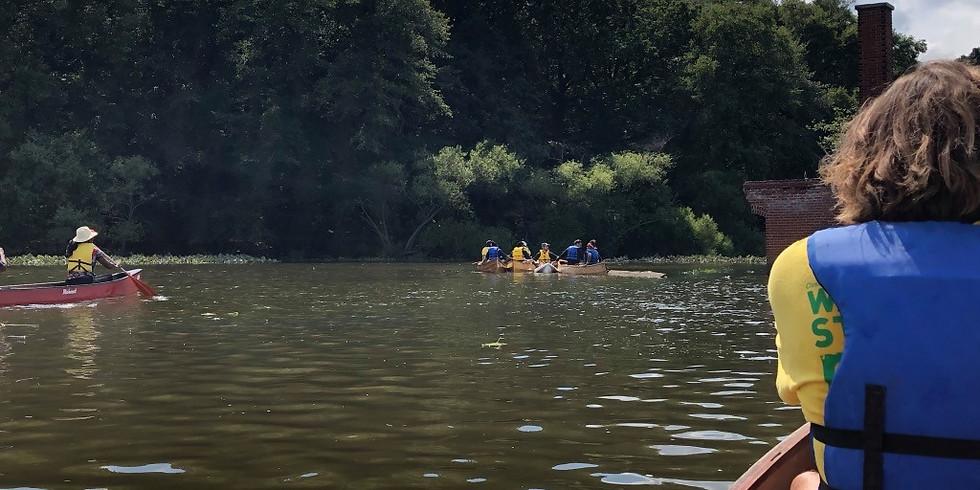 Canoe at Glen Foerd on the Delaware with LandHealth Institute