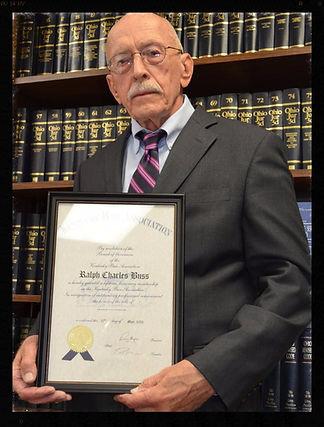 Motorcycle attorney Ralph C. Buss portrait