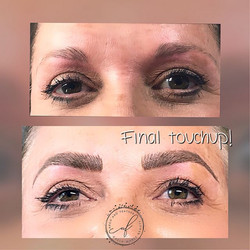 Her brows have come so far! Last touchup